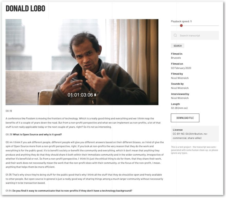 Interview with Donald Lobo