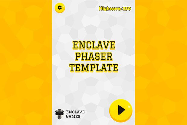 Cover image for Enclave Phaser Template updated to Phaser 3.50